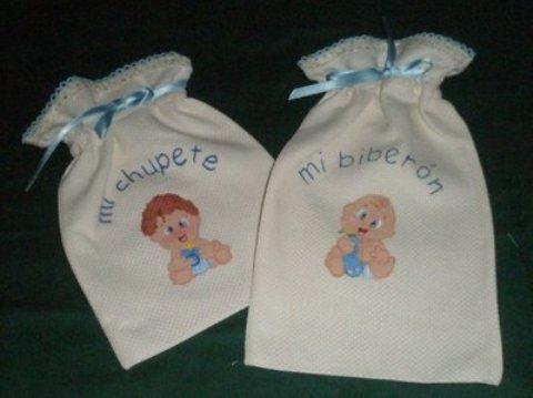 detalles manuales para el bebe bolsita porta todo
