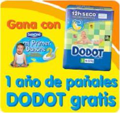 Gana un año de pañales Dodot gratis con Mi Primer Danone
