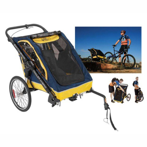 trailer para llevar al bebe en la bicicleta