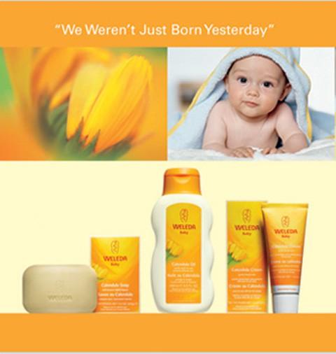 Baño de crema y aceite de caléndula para el bebé