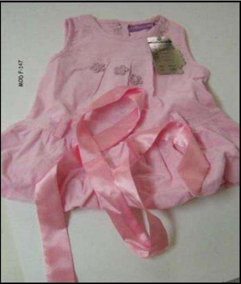 Retiran un vestido de bebé por riesgo de asfixia