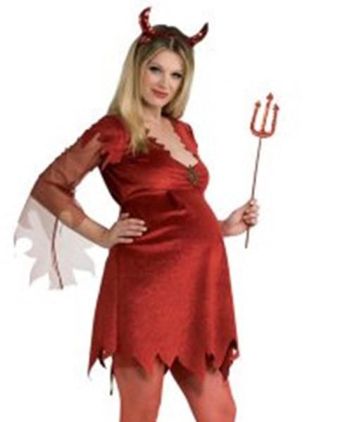 Disfraz de diablesa embarazada para Halloween