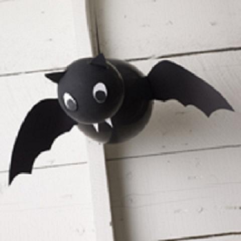 Manualidades con niños: Murciélagos para Halloween