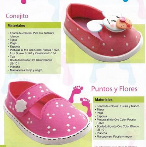 Manualidades: Zapatos de foam para el bebé