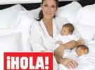 Celine Dion presenta a sus dos bebés milagro