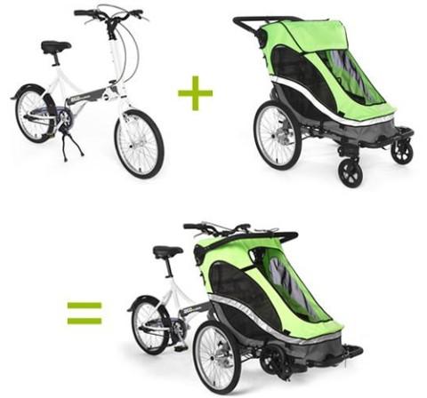 Bicicleta con cochecito para bebé, Zigo Leader