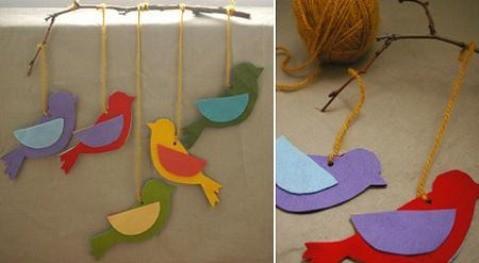 Ideas para el Día del Padre: Móvil con pájaros