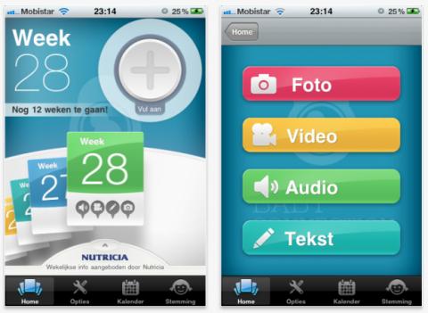 Nutricia Baby, una aplicación para compartir el embarazo