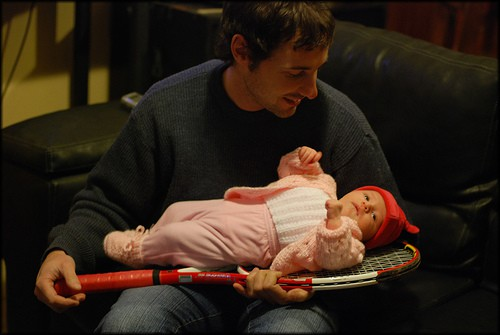 bebé junto con supadre