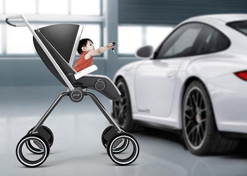Porsche crea un cochecito para bebés