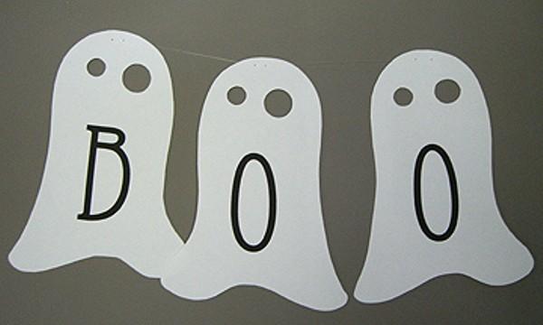 Guirnalda de fantasmas para Halloween