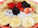 Recetas infantiles con yogur: Frutas del bosque, yogur y plátano