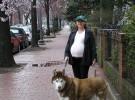El perro el mejor amigo de la embarazada