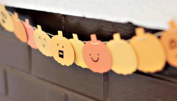 Manualidades para halloween guirnalda de calabazas - Calabazas para halloween manualidades ...