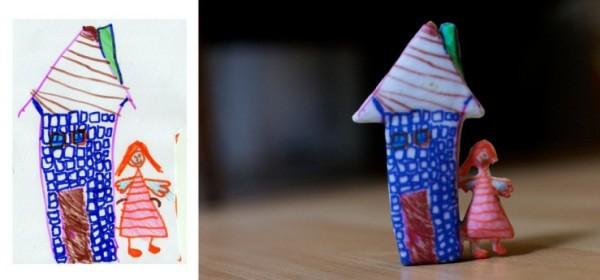 Crayon Creatures: convierte los dibujos de tu bebé en una escultura
