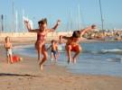 Niños siempre localizados en las playas del País Vasco