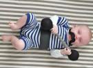Disfraz casero para Halloween: El Bebé Forzudo