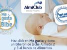 Almirón regala biberones de leche a los bebés necesitados