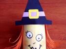 Manualidades para Halloween: Bruja de cartón
