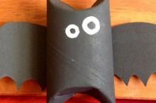 Manualidades para Halloween: Murciélago de cartón