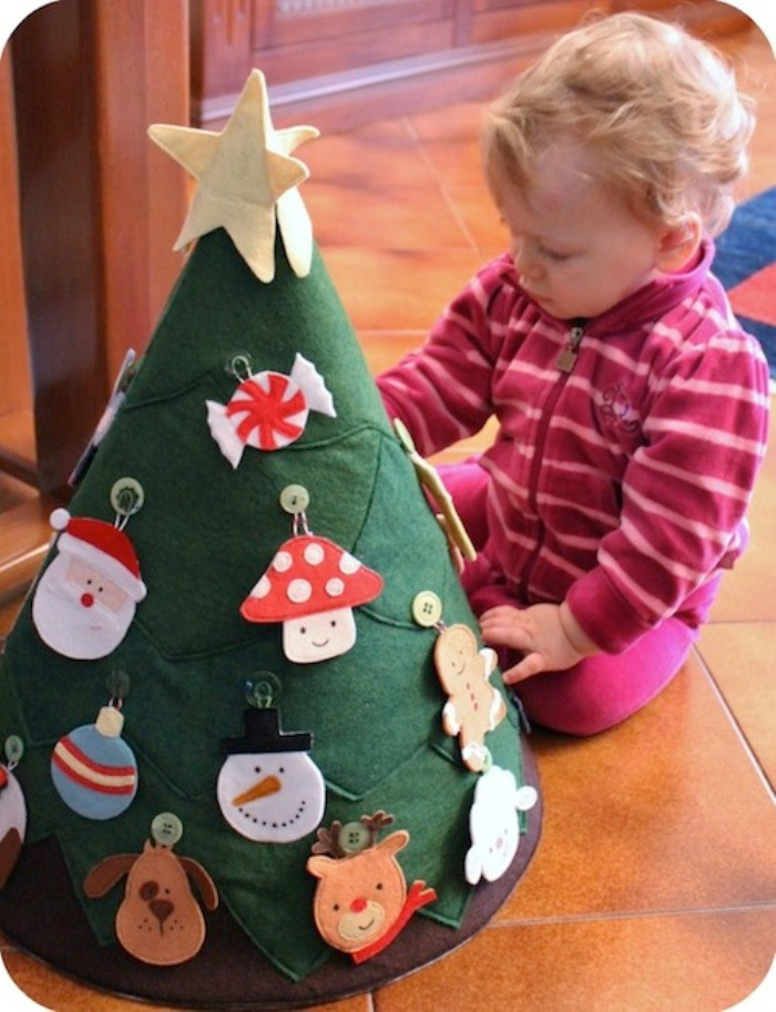 Manualidades de navidad rbol de tela - Arbol navidad tela ...