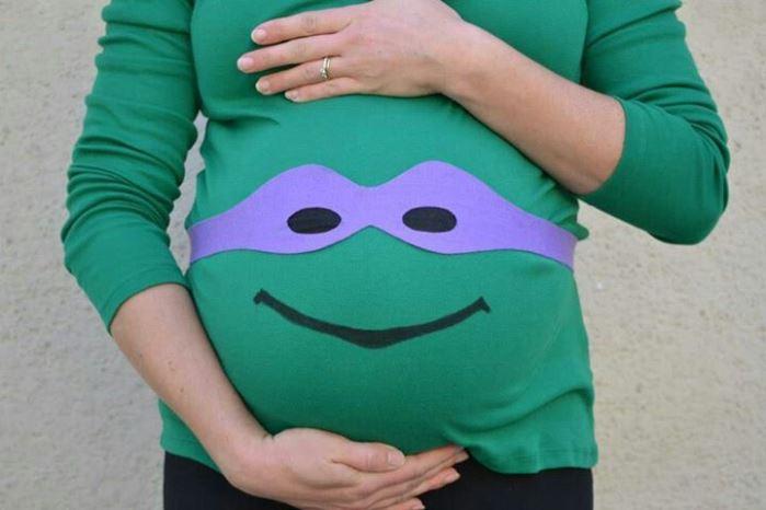 disfraz embarazo tortuga ninja