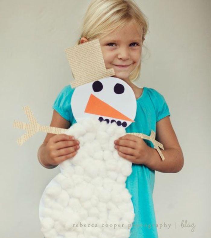 manualidad: muñeco nieve