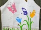 Día de la Madre: Delantal con las huellas del bebé