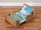 Juguetes caseros: Cama de cartón