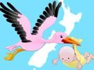 La leyenda de la cigüeña que trae a los bebés de París