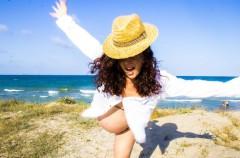 Disfruta de la playa estando embarazada