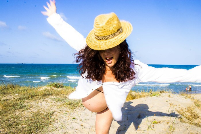 Embarazada y playa