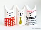 Manualidades: Gatos con rollo de papel