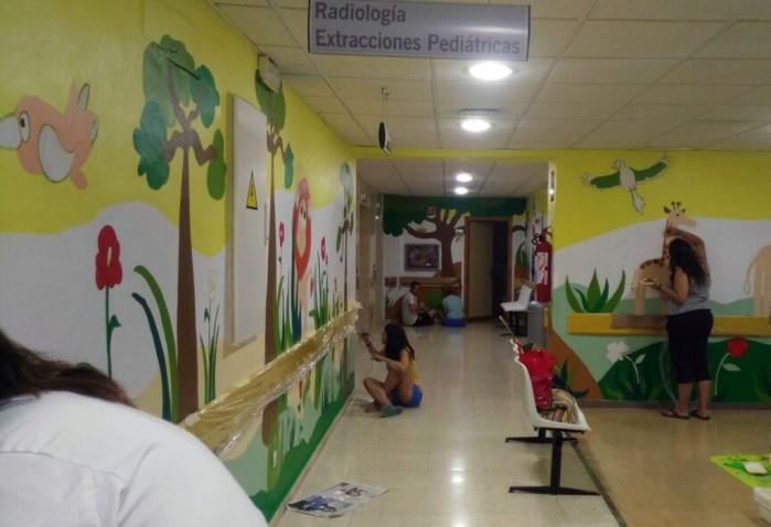 El Hospital Materno-Infantil de Córdoba se llena de color