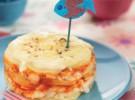 Receta para niños: Milhojas de patata y pescado
