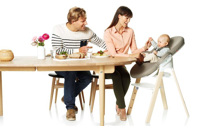 Highchair and Bouncer combination.