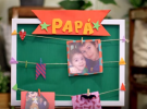 Ideas para el Día del Padre: Cuadro con fotos