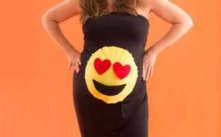 Disfraz de embarazada para Halloween: Emoticono