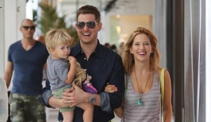 Michael Bublé con su familia