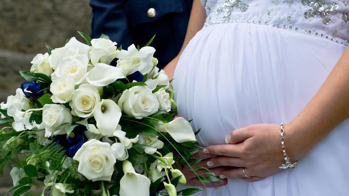 boda y embarazo