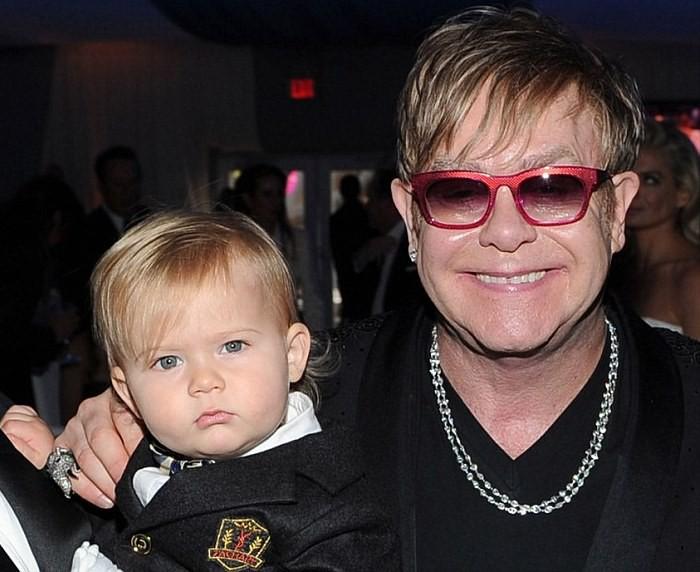 Elton John y su hijo