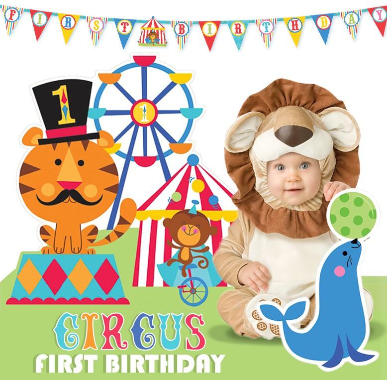 Festejemos su primer cumple: temática circo