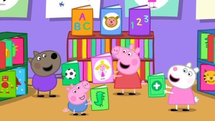 Peppa Pig en la biblioteca