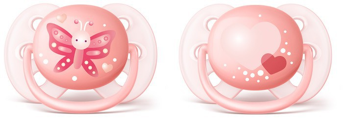 Chupetes Philips Avent Ultrasoft Decorados Niña SCF223 0-6 Producto