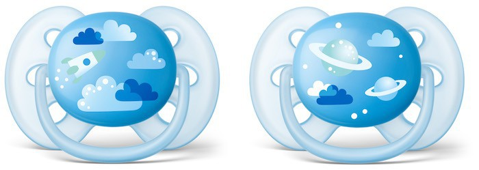 Chupetes Philips Avent Ultrasoft Decorados Niño SCF222 6-18 Producto