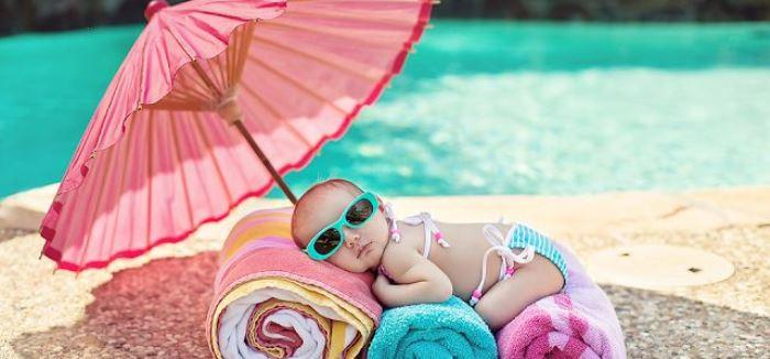 bebé en verano