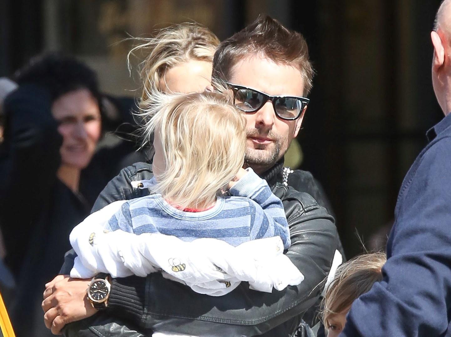 Matt Bellamy e hijo