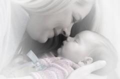Masajes faciales en bebés