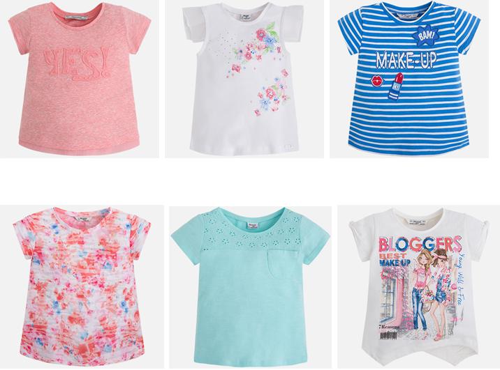 Mayoral camisetas niñas