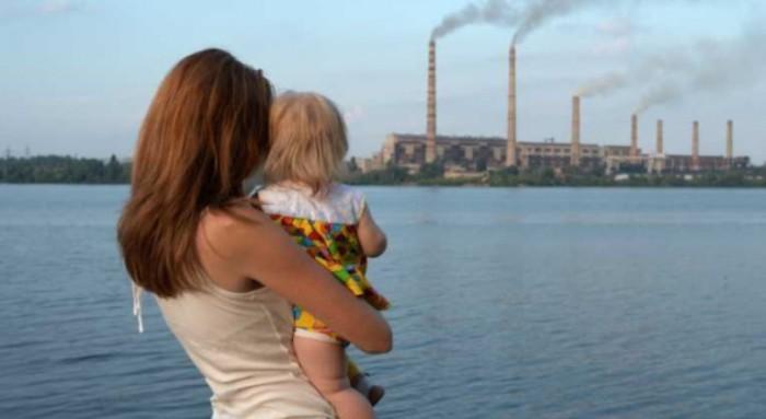 bebé y contaminación